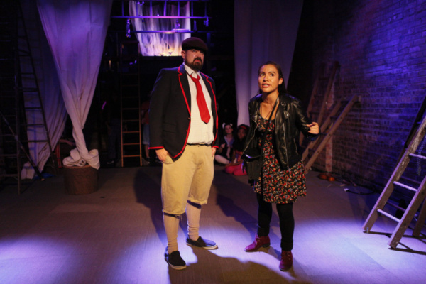 Rory Jobst as Smee and Valeria Rosero as Wendy Photo