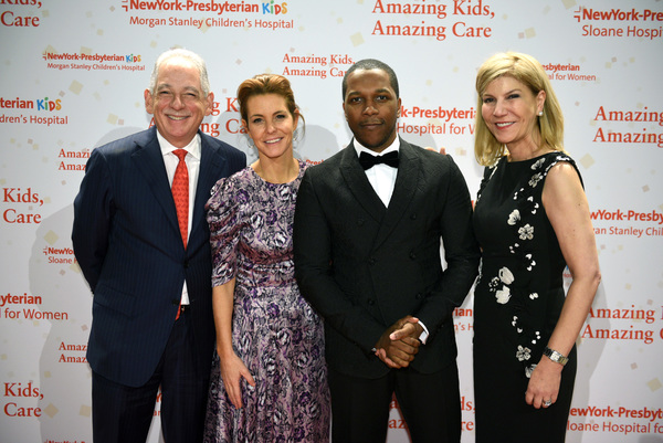 Steven J. Corwin, MD, TV personality Stephanie Ruhle,  Leslie Odom, Jr. and Laura Forese, MD