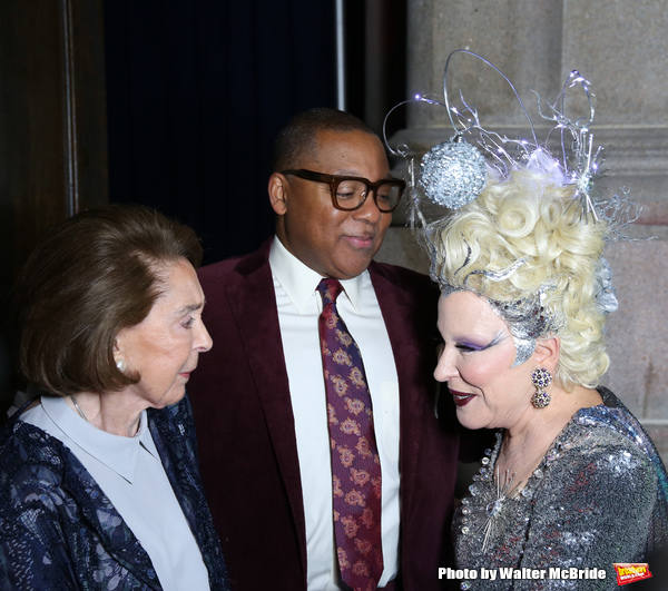 Mica Ertegun, Wynton Marsalis and Bette Midler  Photo