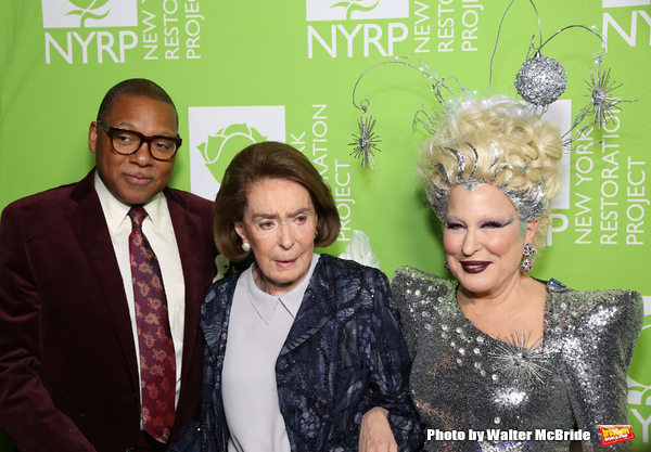 Wynton Marsalis, Mica Ertegun and Bette Midler Photo