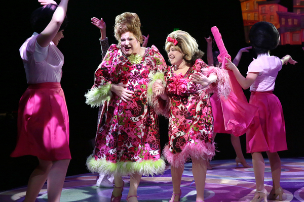 Blake Hammond (Edna Turnblad) and Brooke Shapiro Tracy Turnblad)