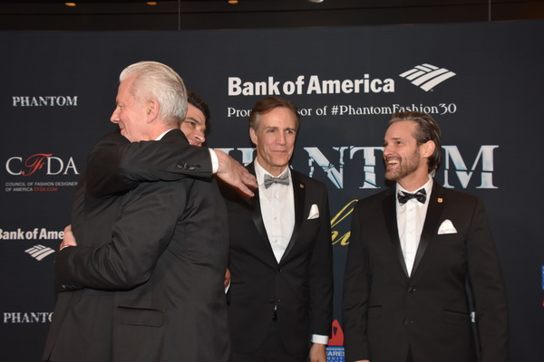Ben Crawford, Howard McGillin and Hugh Panero greet David Caddick