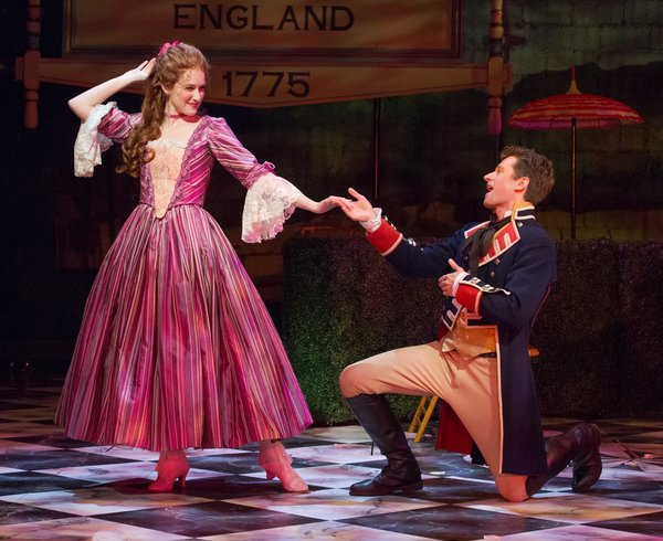 Erin Mackey (Lydia Languish) & Kevin Massey (Captain Jack Absolute/Ensign Beverly)