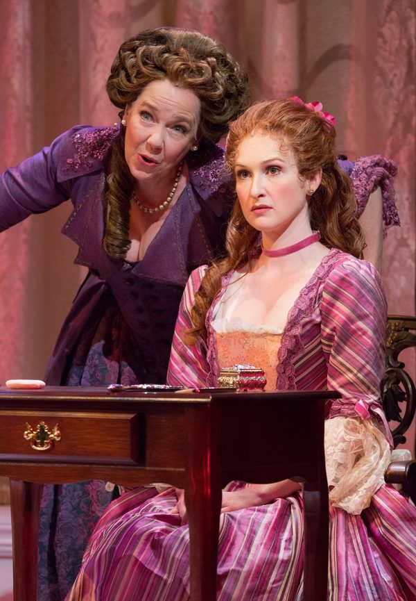 Harriet Harris (Mrs. Malaprop) & Erin Mackey (Lydia Languish)