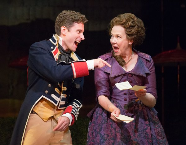 Kevin Massey (Captain Jack Absolute/Ensign Beverly) & Harriet Harris (Mrs. Malaprop)