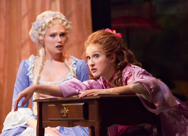 Charlotte Maltby (Julia Melville) & Erin Mackey (Lydia Languish)