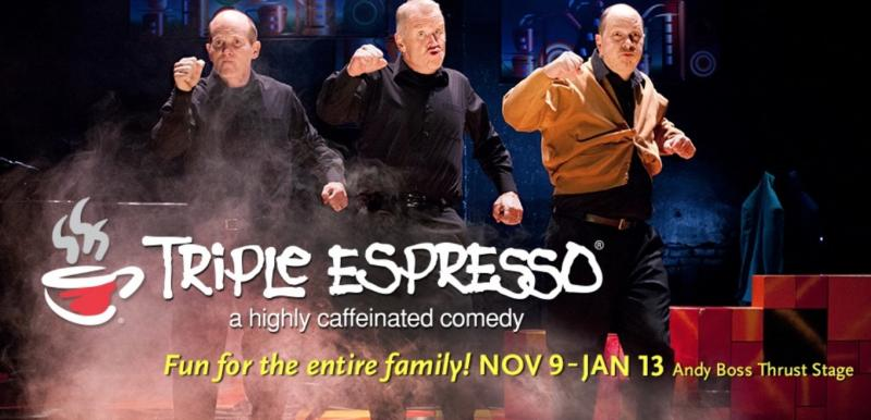 TRIPLE ESPRESSO - A Highly Caffeinated Comedy Coming to Park Square's Boss Stage