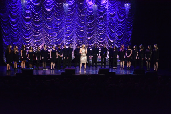 Janine DiVita and the Patchogue-Medford Student Choir under the direction of Brian Reich that includes-Andres Rendon, Sophia Staco, Patch Gallagher,  Alayna Pedra, Molly McCabem Nolan Crean, Hannah Cianciotto, Nicole Pottgeb, Lizzy Hargraves, Gio Verdi,