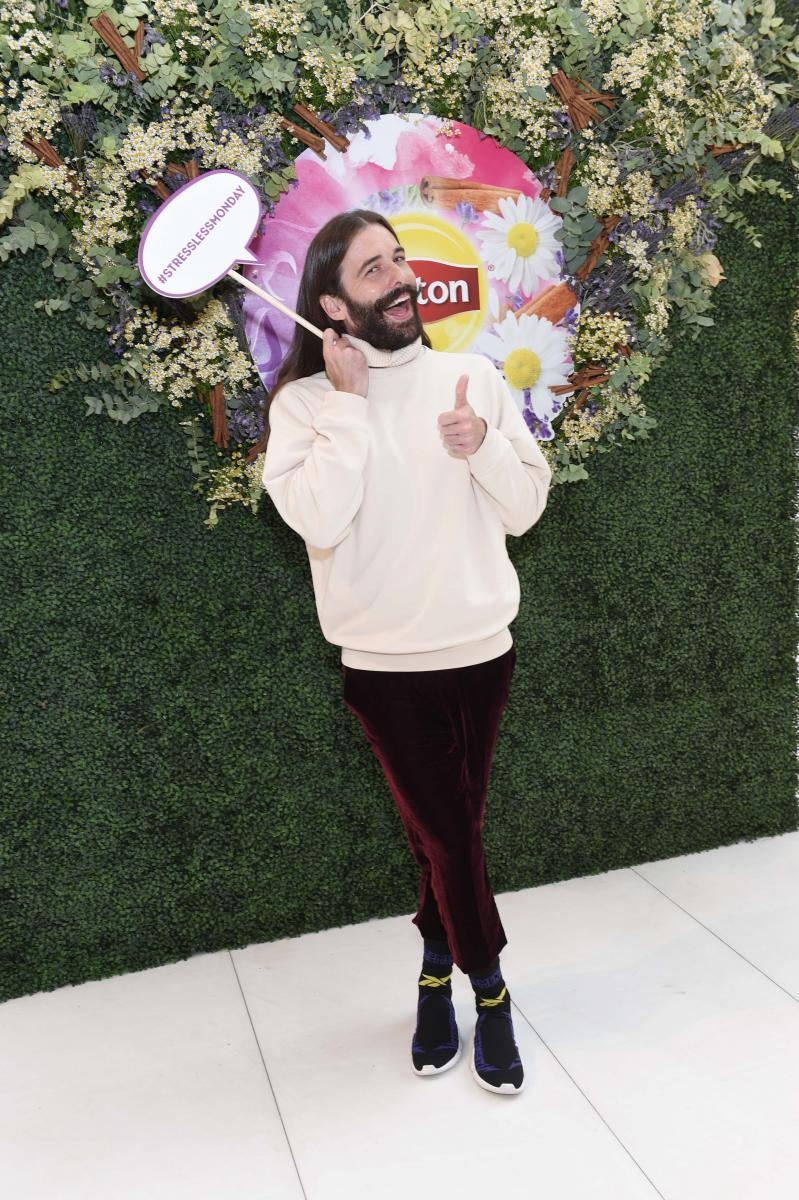 Photo Coverage: Jonathan Van Ness of 'Queer Eye'  at the Oculus in NYC for a Lipton #StressLessMonday Event