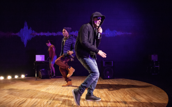 Helena Tafuri, Phoenyx Williams, and Jeff Hodge in HYPE MAN: A BREAK-BEAT PLAY at The Photo