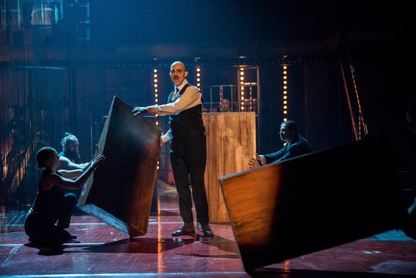 "Leif Aruhn-Solen as Gandhi in Folkoperan/ Cirkus Cirkor production of Philip Glass' Opera ""Satyagraha"" at the BAM Harvey Theater on October 31-November 4, 2018, part of the Next Wave Festival. Photo Credit: Stephanie Berger."