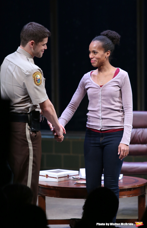Jeremy Jordan and Kerry Washington