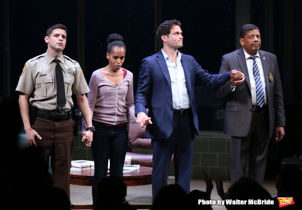 Jeremy Jordan, Kerry Washington, Steven Pasquale and Eugene Lee