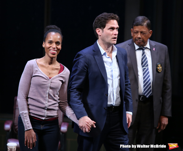 Kerry Washington, Steven Pasquale and Eugene Lee