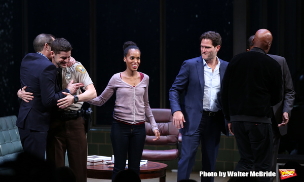 Christopher Demos-Brown, Jeremy Jordan, Kerry Washington, Steven Pasquale, Eugene Lee and Kenny Leon