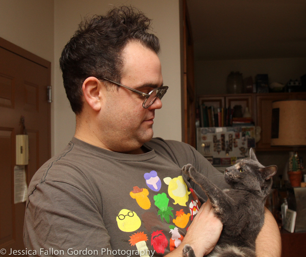 Tails of Broadway: Greg Hildreth Curls Up with Pigeon and Basil!