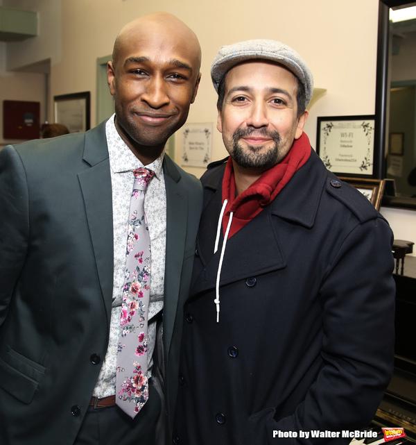 Donald Webber Jr. and Lin-Manuel Miranda