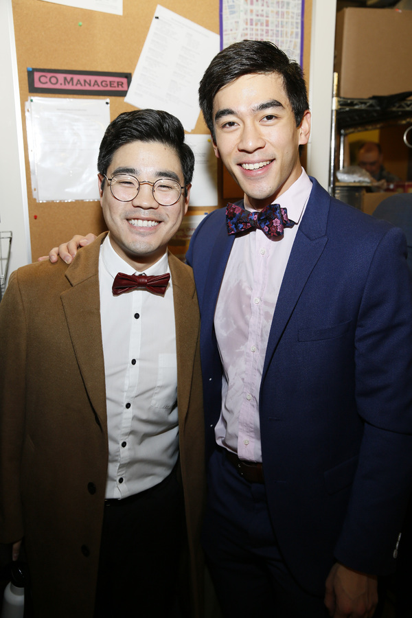 From left, cast members Scott Keiji Takeda and Justin Chien
