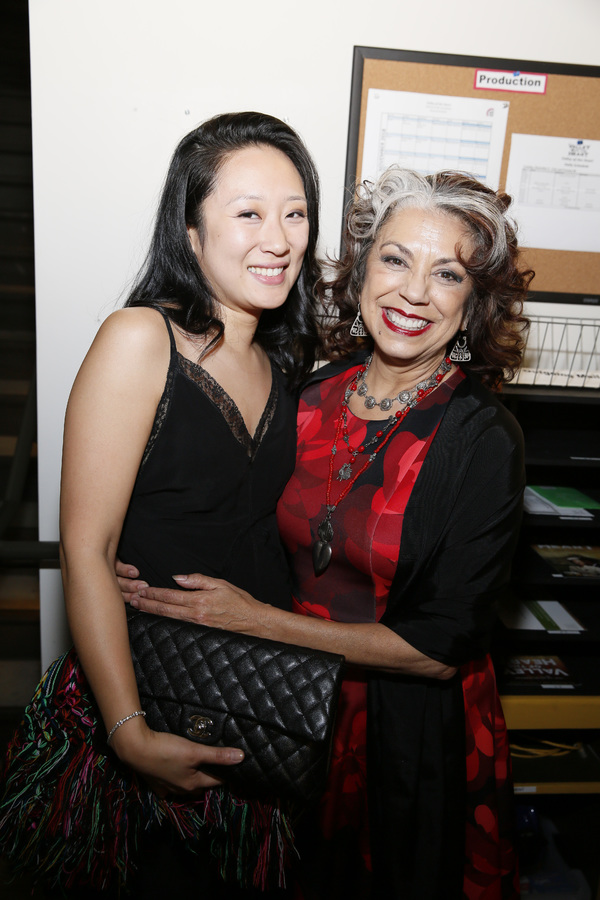 From left, cast members Melanie Arii Mah and Rose Portillo