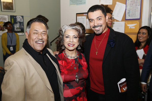 From left, cast members Daniel Valdez, Rose Portillo and actor Matias Ponce