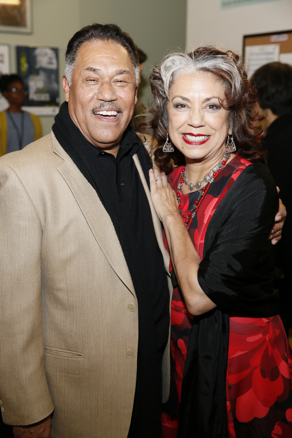 From left, cast members Daniel Valdez and Rose Portillo