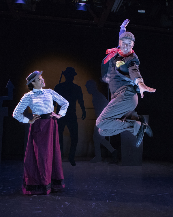 Vanessa Sears as Mary Poppins and Kyle Blair as Bert