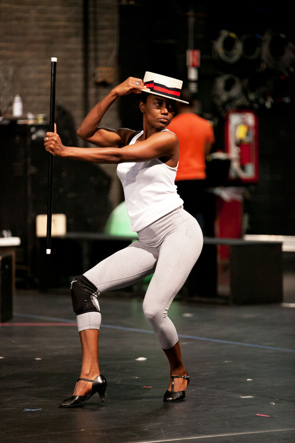 Patina Miller in the Pippin Workshop