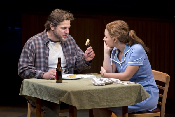 Joe Tippett and Jessie Mueller