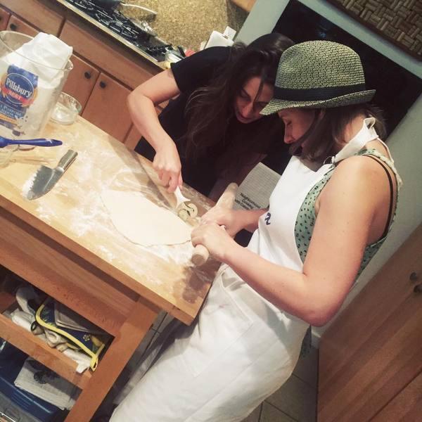 Sara Bareilles and Jessie Mueller Get Pie Lessons