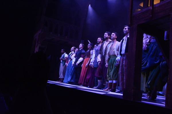 The Opening Night Cast that includes-Colin Anderson, Gina Naomi Baez, Leland Burnett, Photo