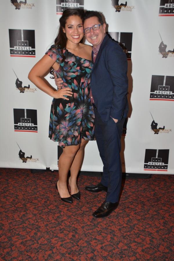 Gina Naomi Baez and Evan Pappas (Director, Argyle Theatre Artistic Director)