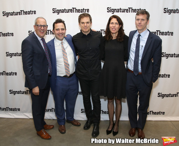 Harold Wolpert, Oliver Butler, Michael C. Hall, Paige Evans and Will Eno