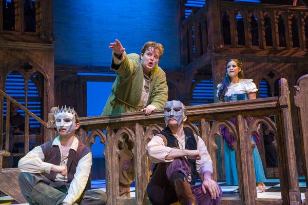 Colin Anderson as Quasimodo, Gina Naomi Baez as Esmeralda, and cast