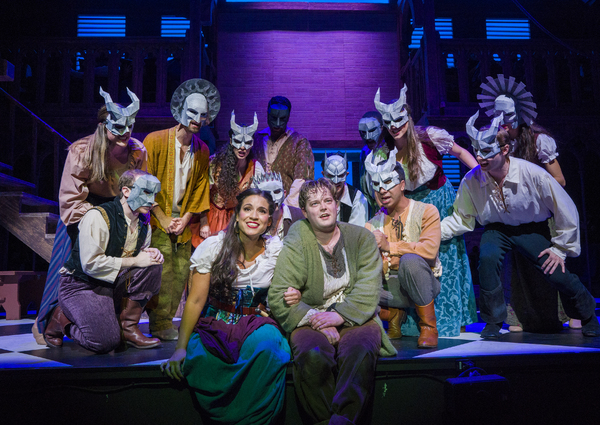 Gina Naomi Baez as Esmeralda, Colin Anderson as Quasimodo, and cast Photo