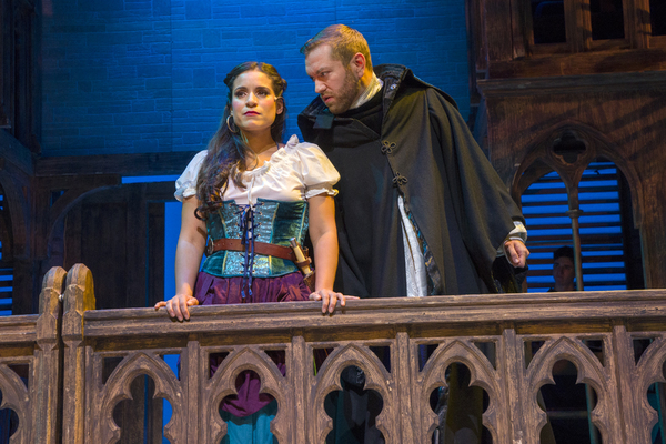 Gina Naomi Baez as Esmeralda, Ryan Speakman as Claude Dom Frollo Photo