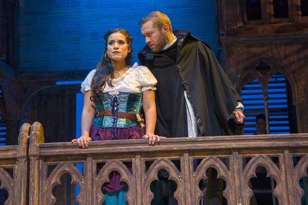 Gina Naomi Baez as Esmeralda, Ryan Speakman as Claude Dom Frollo