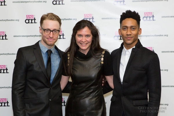 Matt Gould, Diane Paulus, and Griffin Matthews