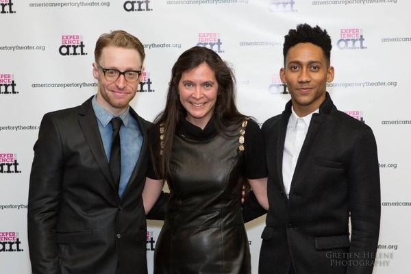 Matt Gould, Diane Paulus, and Griffin Matthews