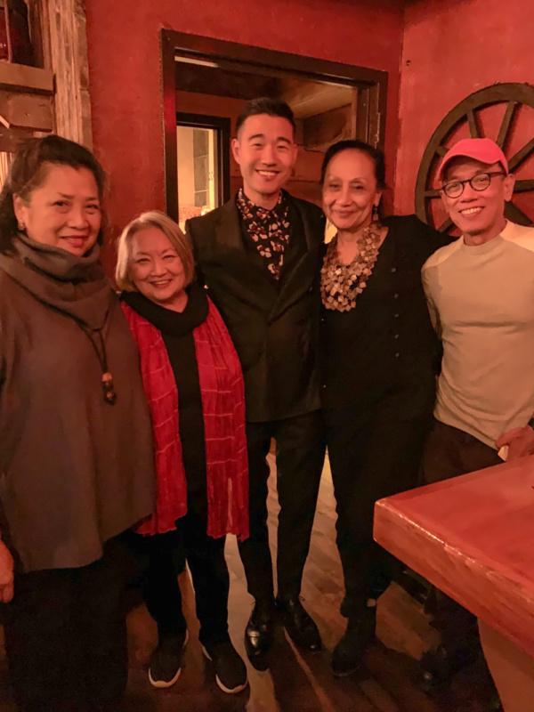 Mia Katigbak, Virginia Wing, Daniel K. Isaac, Ching Valdes-Aran and Sound Designer/Composer Fabian Obispo