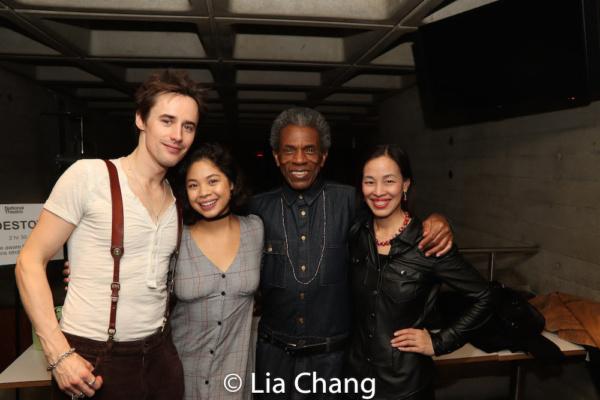 Reeve Carney, Eva Noblezada, Andre De Shields and Lia Chang