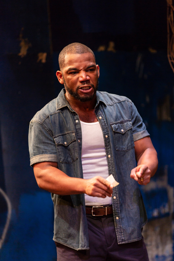Blake Morris (King Hedley II) in August Wilson's King Hedley II at Two River Theater
