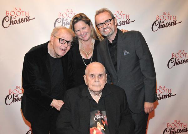 Composer Al Kasha, Book Writer Sam Bennett, Composer Phil Swann, seated Producer John Photo