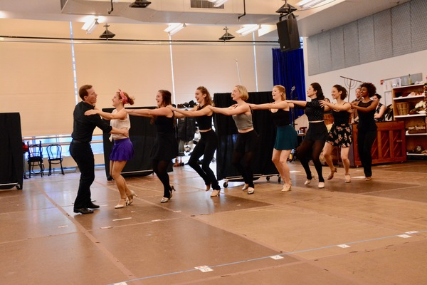 Jeff Kready and the ensemble dancers that include-Tricia DeSario, Taylor Fields, Kelly Gleason, Juliane Godfrey, Berklea Going, Julie Kavaagh, Amy Van Norstrand and Scarlett Walker