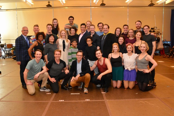 The Cast and Creative Team of Irving Berlin's Holiday Inn that included Aidan Alberto Photo