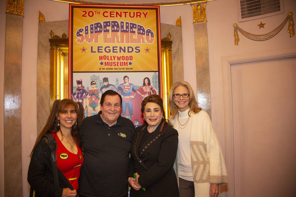 Tracy and Burt Ward, Donelle Dadigan and Lindsay Wagner