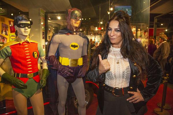 Big Bang Theory's, Alice Amter, With Batman 66 Exhibit at The Hollywood Museum Photo