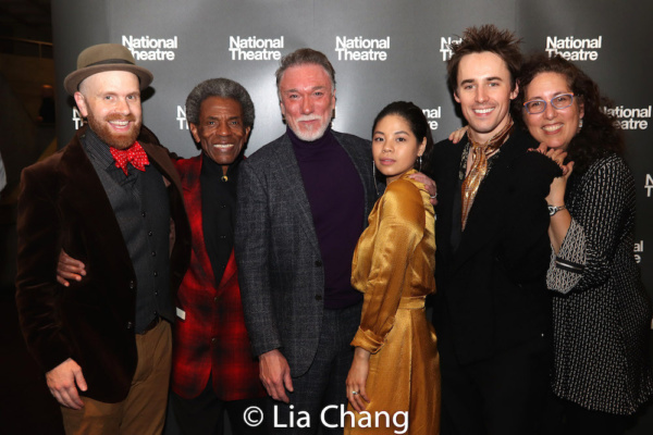 Musical Director and Vocal Arranger Liam Robinson, Andre De Shields, Patrick Page, Eva Noblezada, Reeve Carney and Co-Producer Mara Isaacs