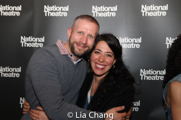 Tim Levy, producer for NT America and Director Rachel Chavkin   Photo