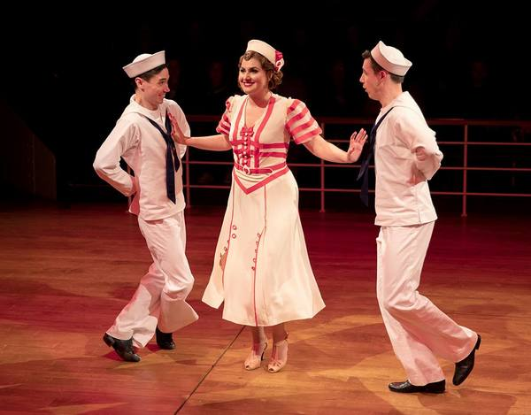 "Nicholas Yenson, Maria Rizzo and Mickey Orange in ""Anything Goes.""  Photo"