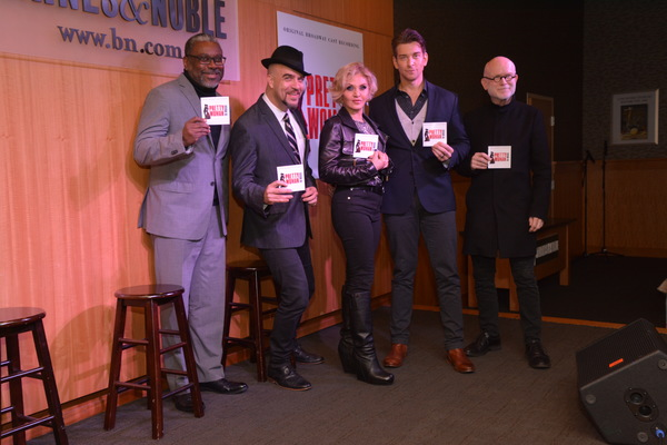 Kingsley Leggs, Eric Anderson, Orfeh, Andy Karl and Jim Vallance Photo